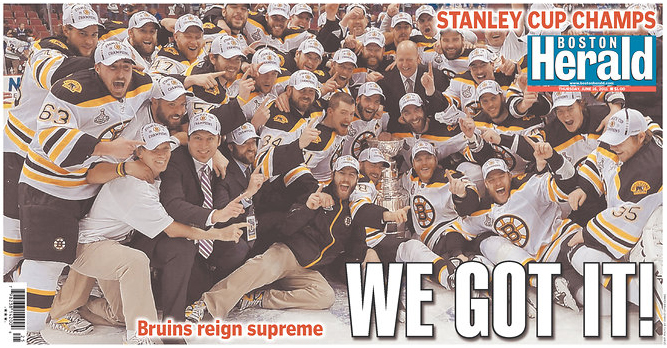 Stanley Cup newspaper fronts